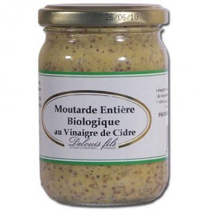 Organic Grain Mustard With Cider Vinegar 200g
