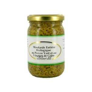 Organic Grain Mustard With Green Peppercorns 200g