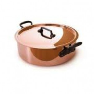 Solid Copper Stew Pot With Lid 12cm